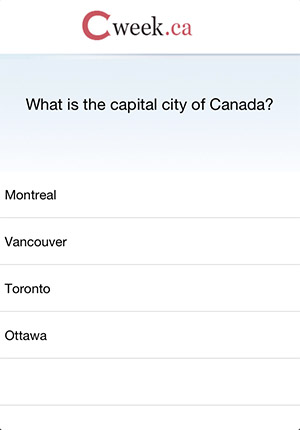 Canadian Citizenship Test iphone app screenshot 1