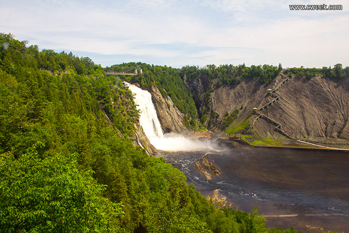 A waterfall close to Quebec City
