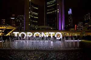 Toronto Sign on Nuit Blanche 2015