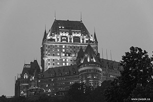 Quebec City in Black and White