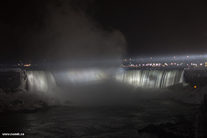 Freezing Niagara Falls at night